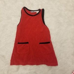 White stag red size small mock dress girls